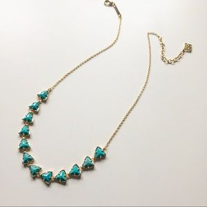 Kendra Scott Turquoise & Gold Necklace